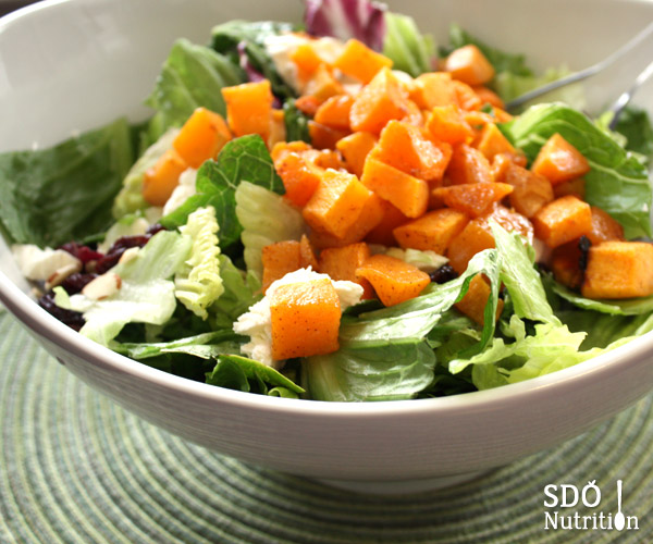 Refreshing butternut squash salad