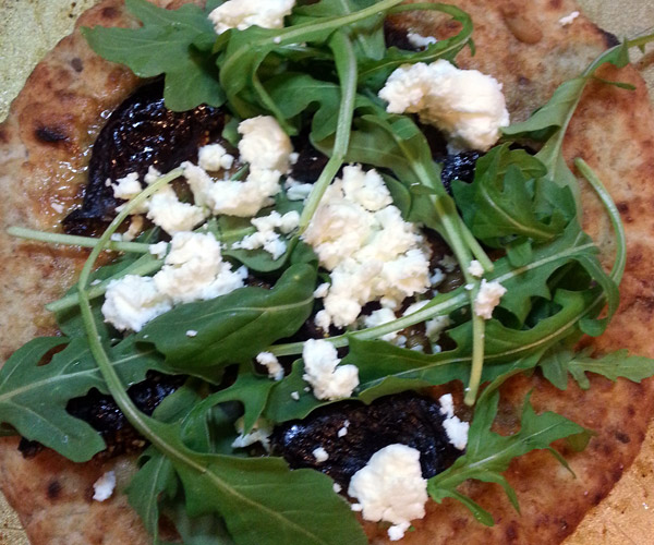 Fig And Goat Cheese Pizza With Arugula Recipe — Dishmaps